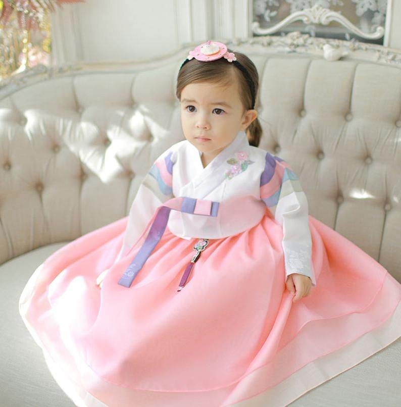 Hanbok Dress Girls Baby Korea Traditional Clothing 1-10 Ages | Etsy