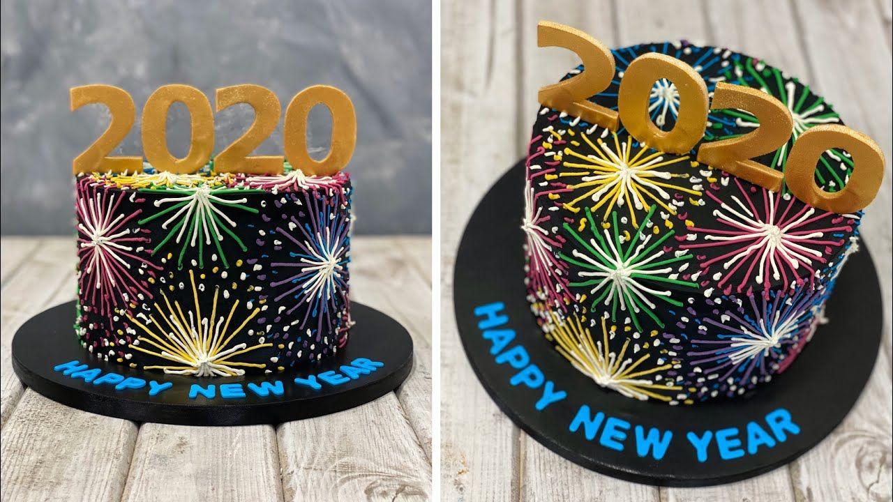 New Years Cake 2020 Gâteau du Nouvel An 2020 Pastel de