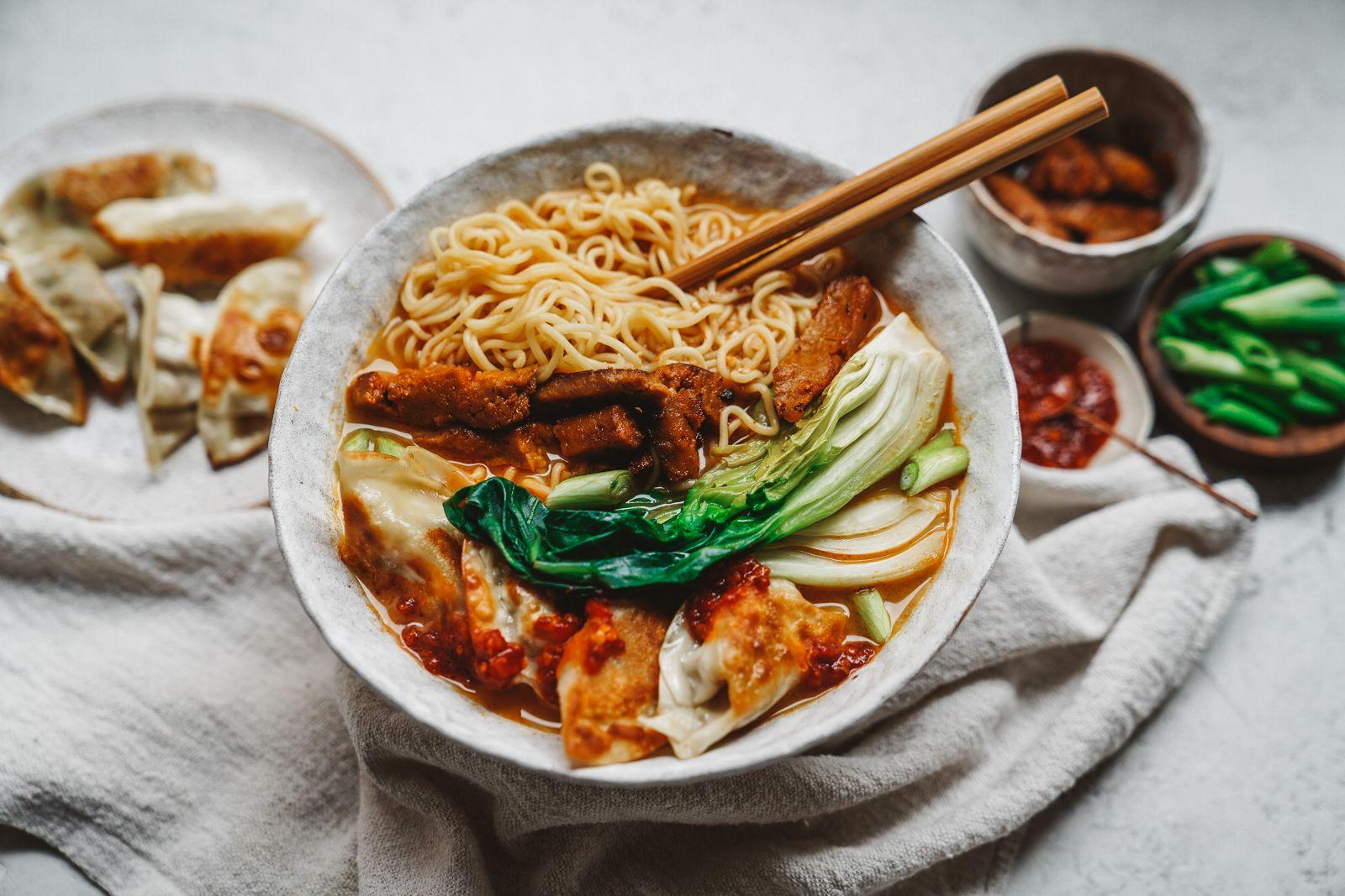 Creamy Ramen Tofu Bowl By Woon Heng Quick Easy Recipe The Feedfeed Recipe Crispy Tofu Tofu Food