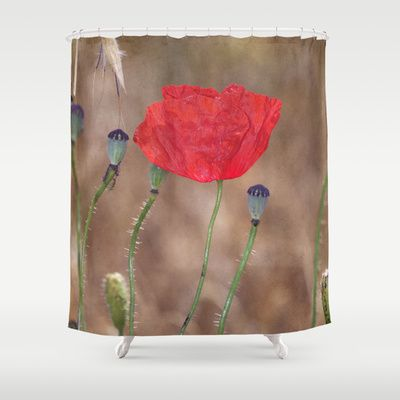 Happy poppy. T Shower Curtain by Guido Montañés - $68.00 FREE ...