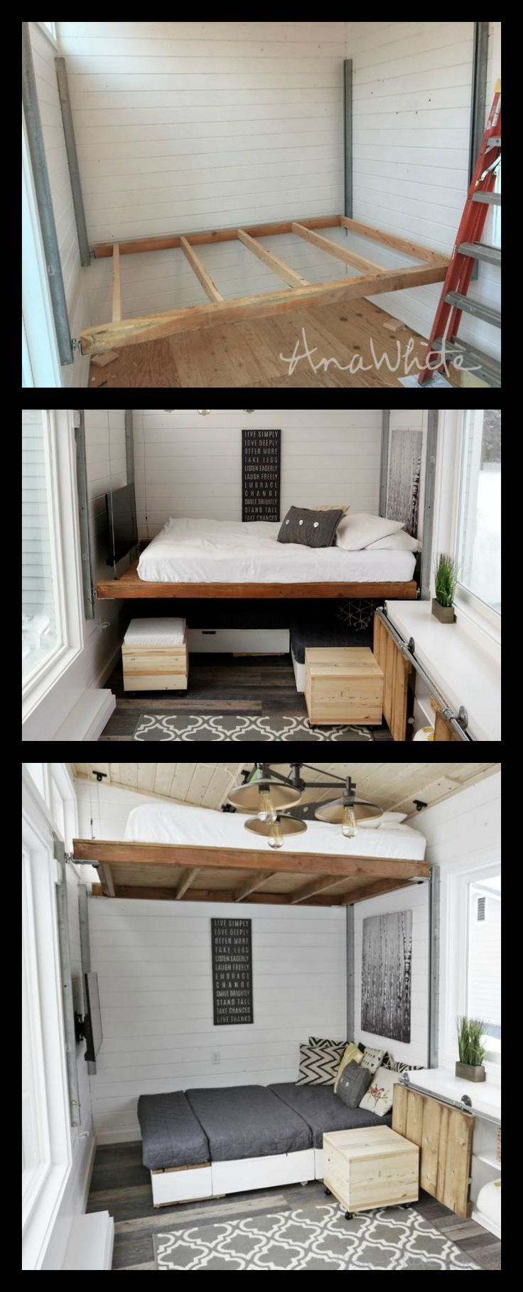 Diy Elevator Bed For Tiny House Small House Diy Diy House Projects Ana White Diy