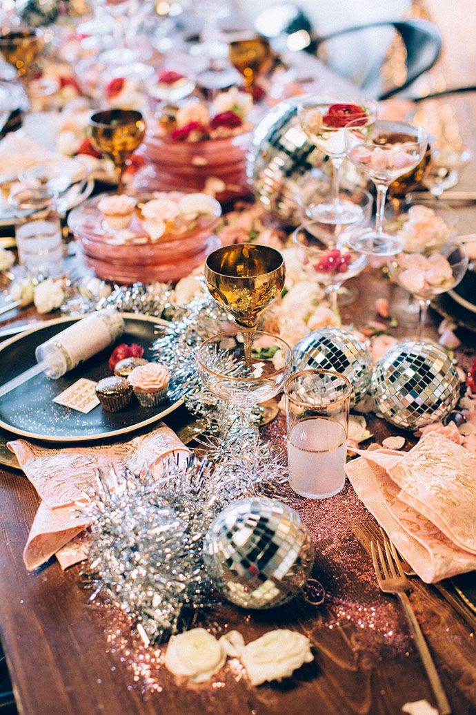 A Sparkly Holiday Party To Inspire You This Season | Holidays, Disco ...