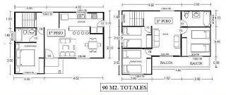 Planos de Casas, Modelos y Diseños de Casas: Planos de casas pequeñas de dos plantas