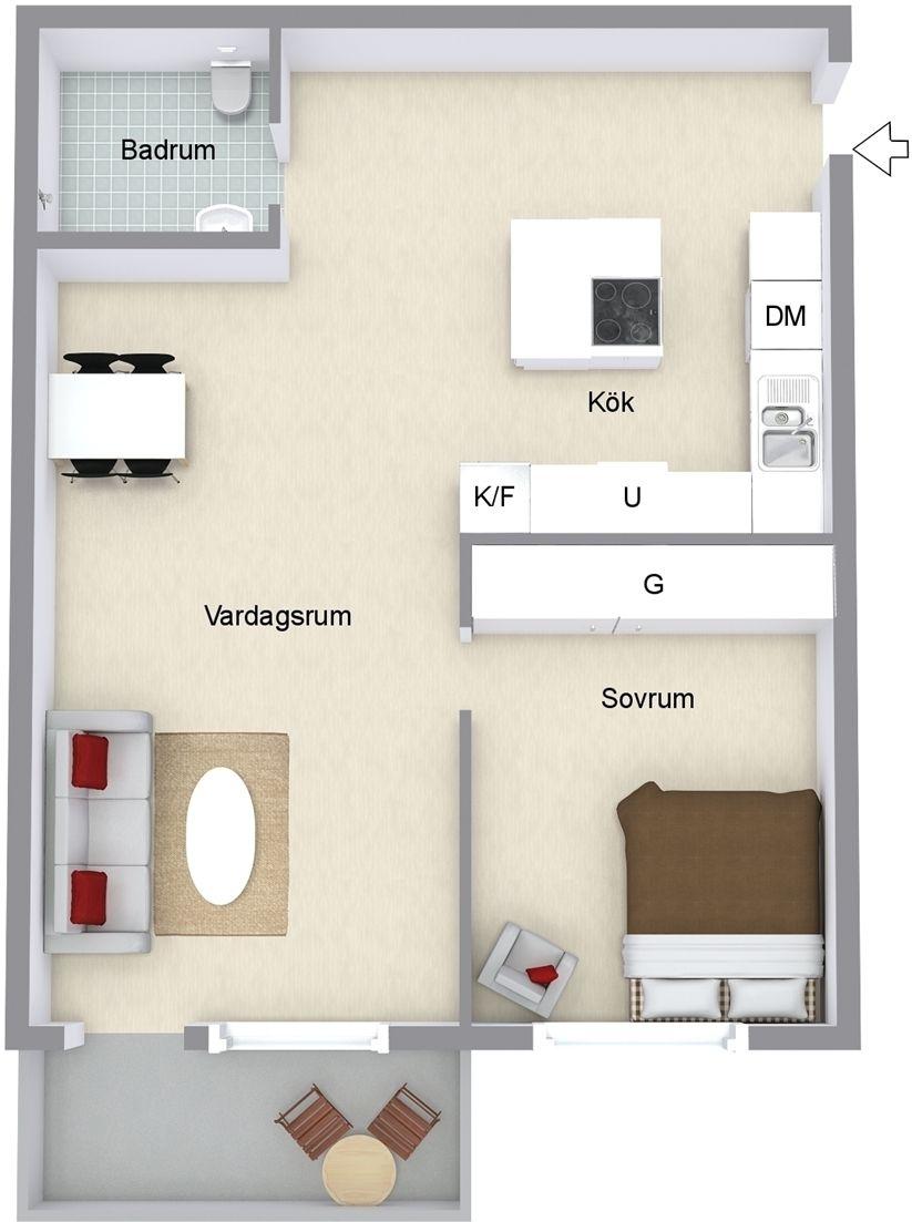 Mini apartamento estilo escandinavo whole departments for Mini apartamentos modernos