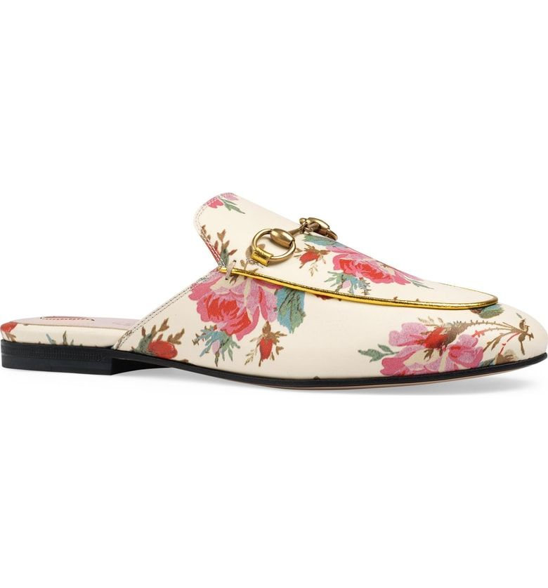 f9a19d9b0c2 Free shipping and returns on Gucci Princetown Floral Loafer Mule (Women) at  Nordstrom.