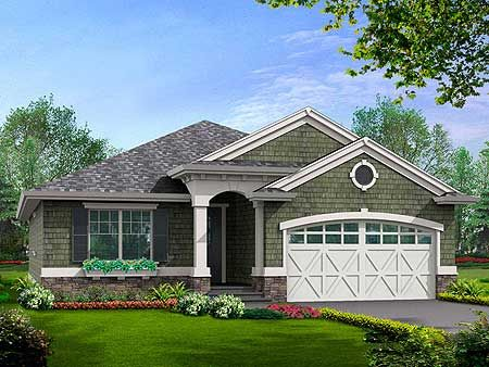 Plan 23260jd Simple Craftsman Ranch With Options More
