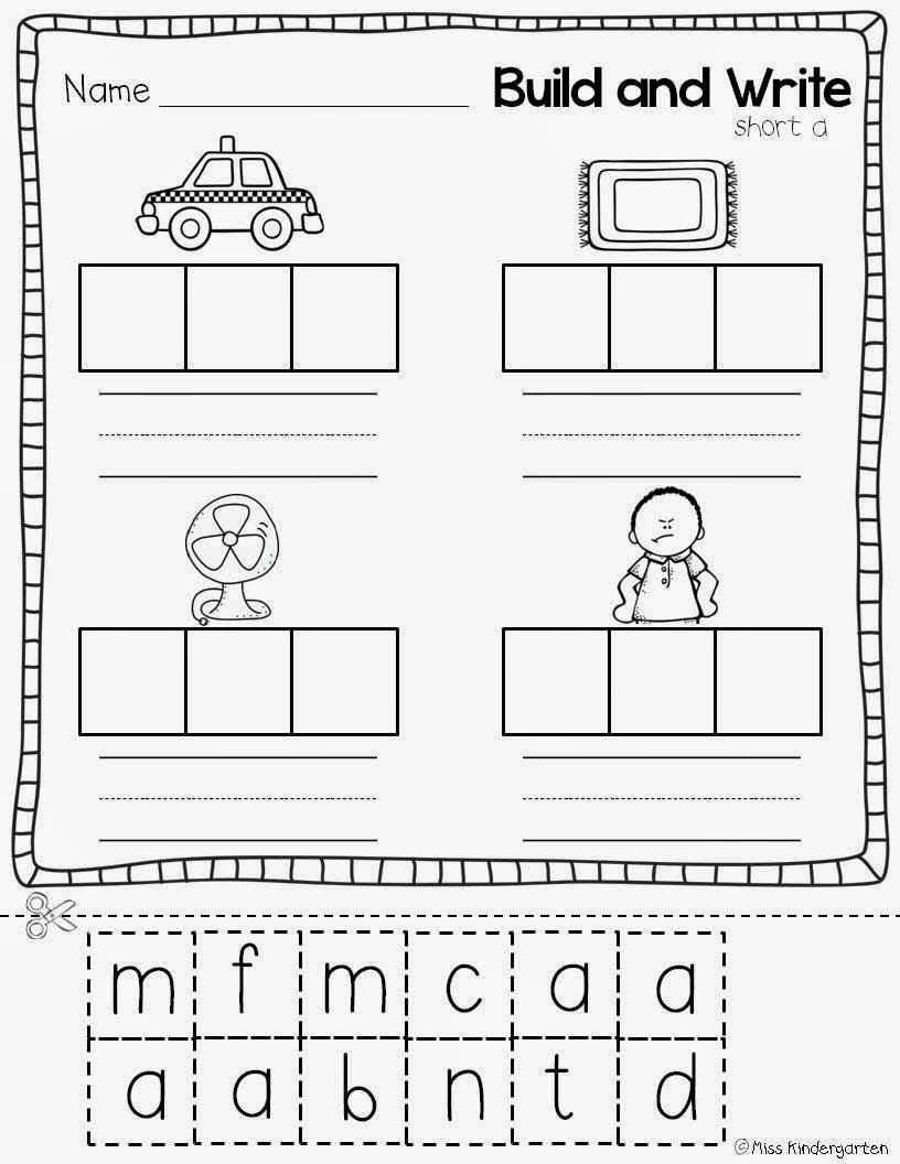 Worksheets Free Cut And Paste Worksheets miss kindergarten super cvc practice tutoring reading free printable worksheets cut and paste natashawhite