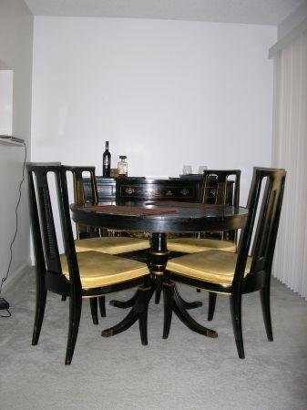 drexel dining room furniture 1960 | 1960s era VINTAGE Drexel Travis Court Dining Table with 4 ...