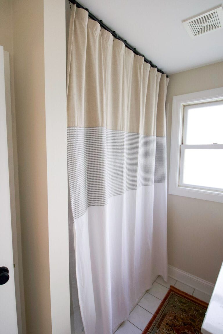 Diy Extra Long Shower Curtain With Images Bath Inspiration