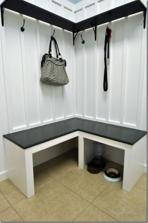 Corner Mudroom Bench Idea For The Home In 2019 Bench