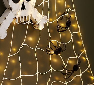 Spider Web String Lights #potterybarn Grown up Halloween Party