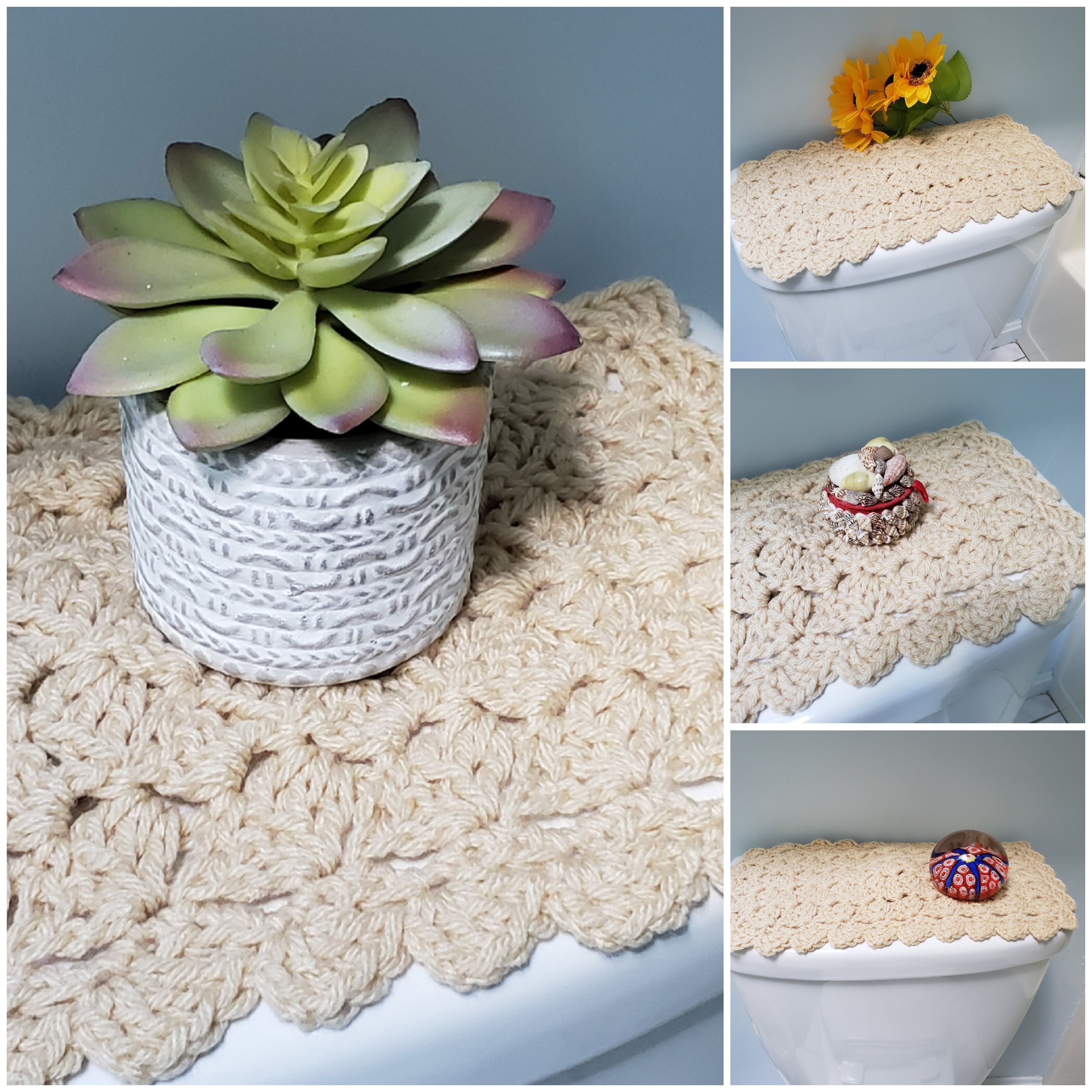 Toilet Tank Topper Crochet Toilet Tank Topper Bathroom Decor Oatmeal Ttt1m With Images Crafts To Make And Sell Crafts To Make Diy Craft Projects