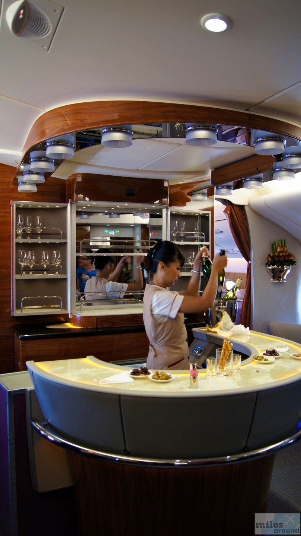 Emirates first class im airbus a380800 nach hong kong