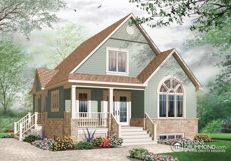 Plan modèle 1 étage et demi Maison Pinterest House - plan maison etage m