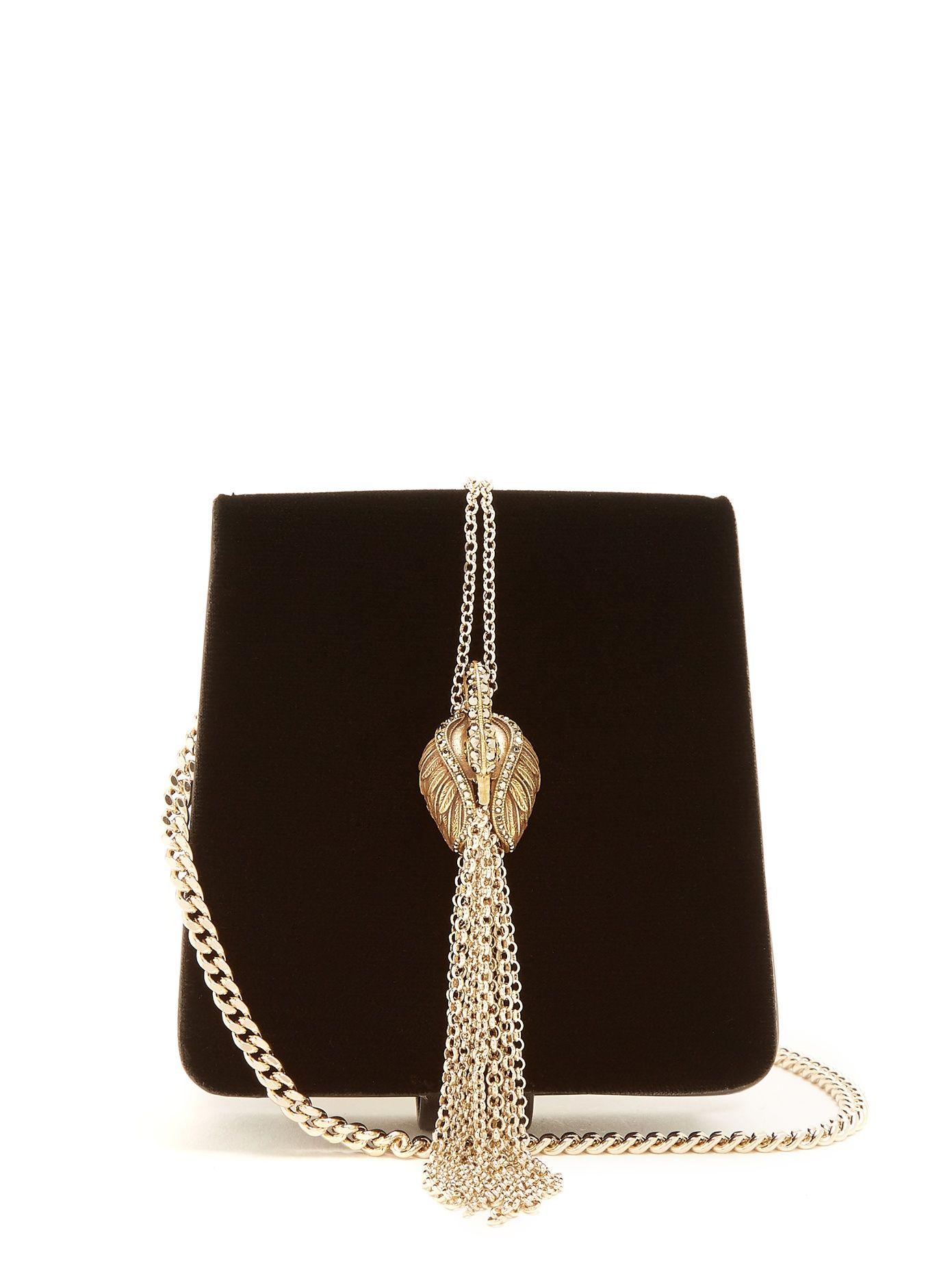 629603fbd734e3 Click here to buy Lanvin Discret swan-embellished velvet bag at  MATCHESFASHION.COM