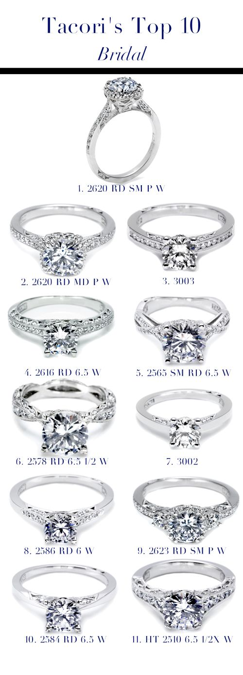 Tacori S Top 10 Engagement Rings Any One Of The 10 Would Be