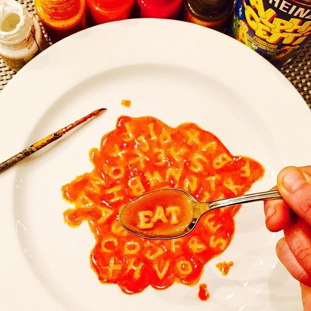 Delicious Paintings on Dinner Plates by Jacqueline Poirier. Alphabet soup. & Delicious Paintings on Dinner Plates by Jacqueline Poirier. Alphabet ...