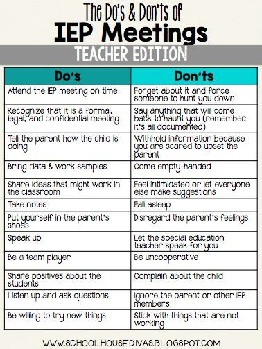 The DoS  DonTs Of Iep Meetings This Is A Must Know For All