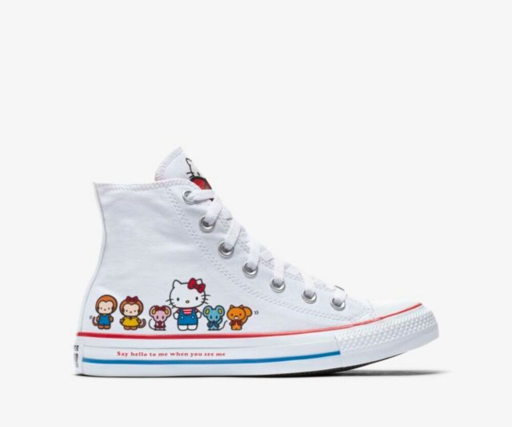 d28f07b4dabc Converse Hello Kitty Chuck Taylor All Star Canvas Hight Top Youth Size 13   fashion  clothing  shoes  accessories  kidsclothingshoesaccs  unisexshoes  (ebay ...