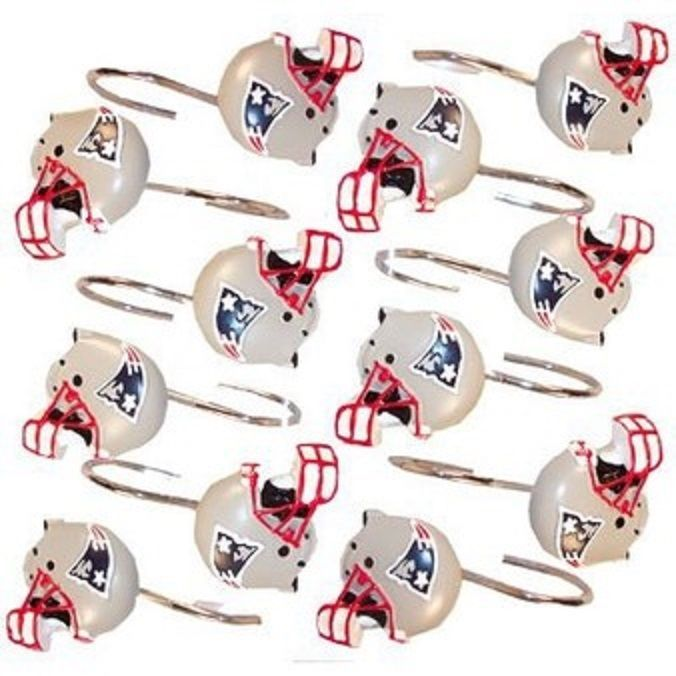 BNWT NEW ENGLAND PATRIOTS SUPERBOWL 2014 OFFICIAL SHOWER CURTAIN RING 12 SET An NFL Product 100 Authentic Great For The Family