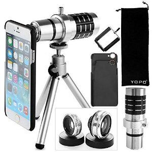 online store 73b1c af2a9 YOPO iPhone 6s/ 6s Plus / 6 plus / 6 Camera Lens Kit-12x Telephoto ...