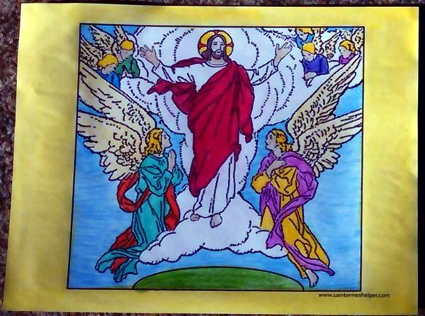 Jesus Ascension Coloring Page ❤+❤ Catholic Coloring Pages