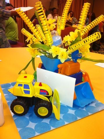 Under Construction Baby Shower Centerpiece Baby Shower Ideas In
