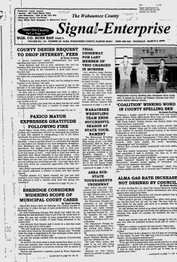 WABAUNSEE COUNTY- Alma, Kansas - 2005-2007 - Signal-Enterprise - Google News Archive Search