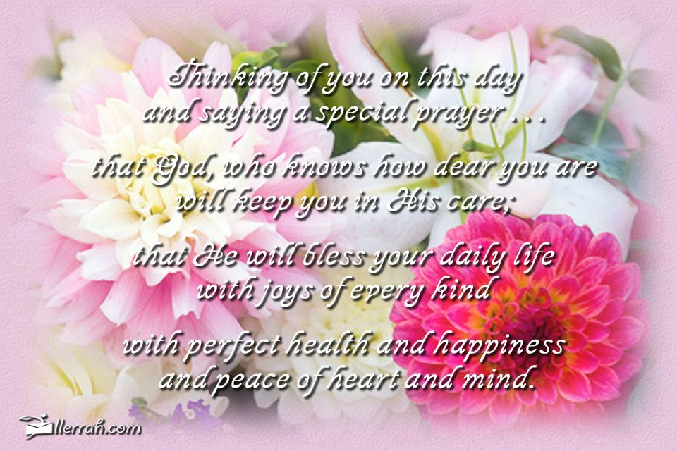 Happy Birthday Message And Prayer ~ Thinking of you today cards from friends pinterest special prayers