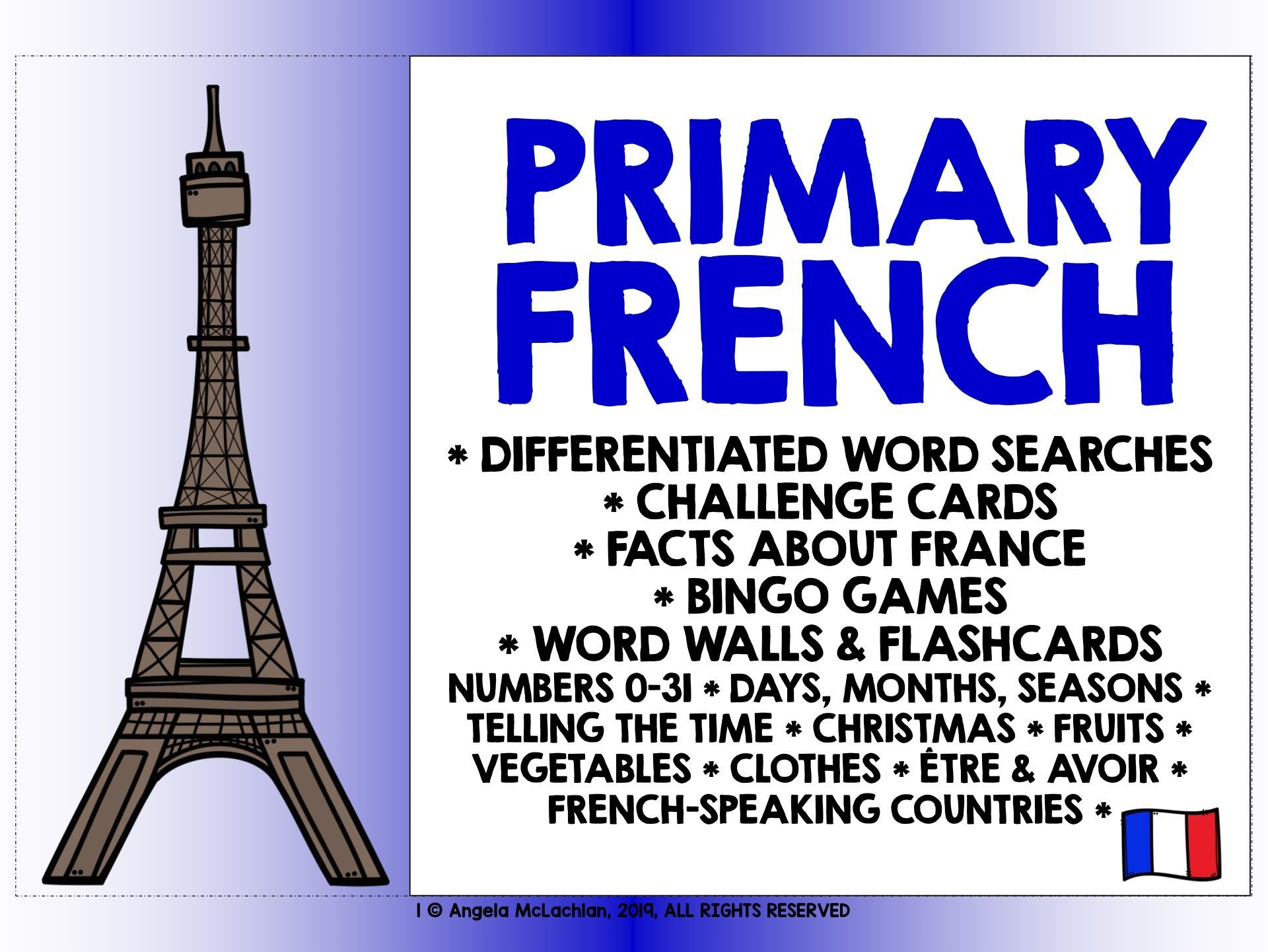 Primary French Back To School 1
