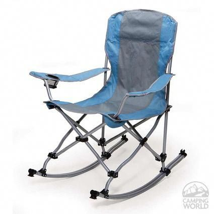 Rocking Bag Chair Kitchen Table With 4 Chairs Blue And Gray Folding Be Comfortable Wherever You Go This Portable Cupholder Has Your Back