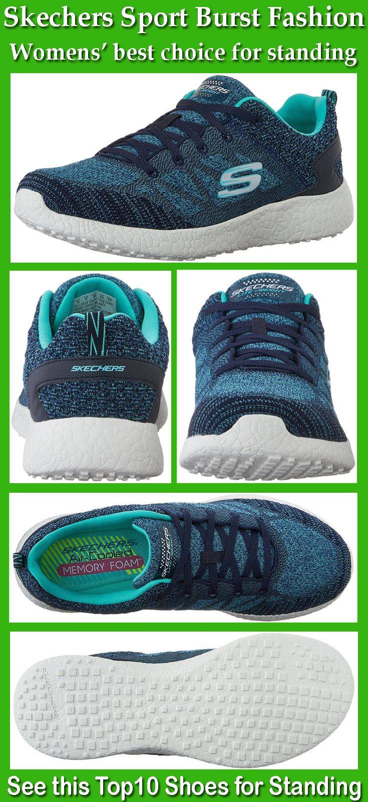 Skechers air cooled memory foam sneaker is lightweight and