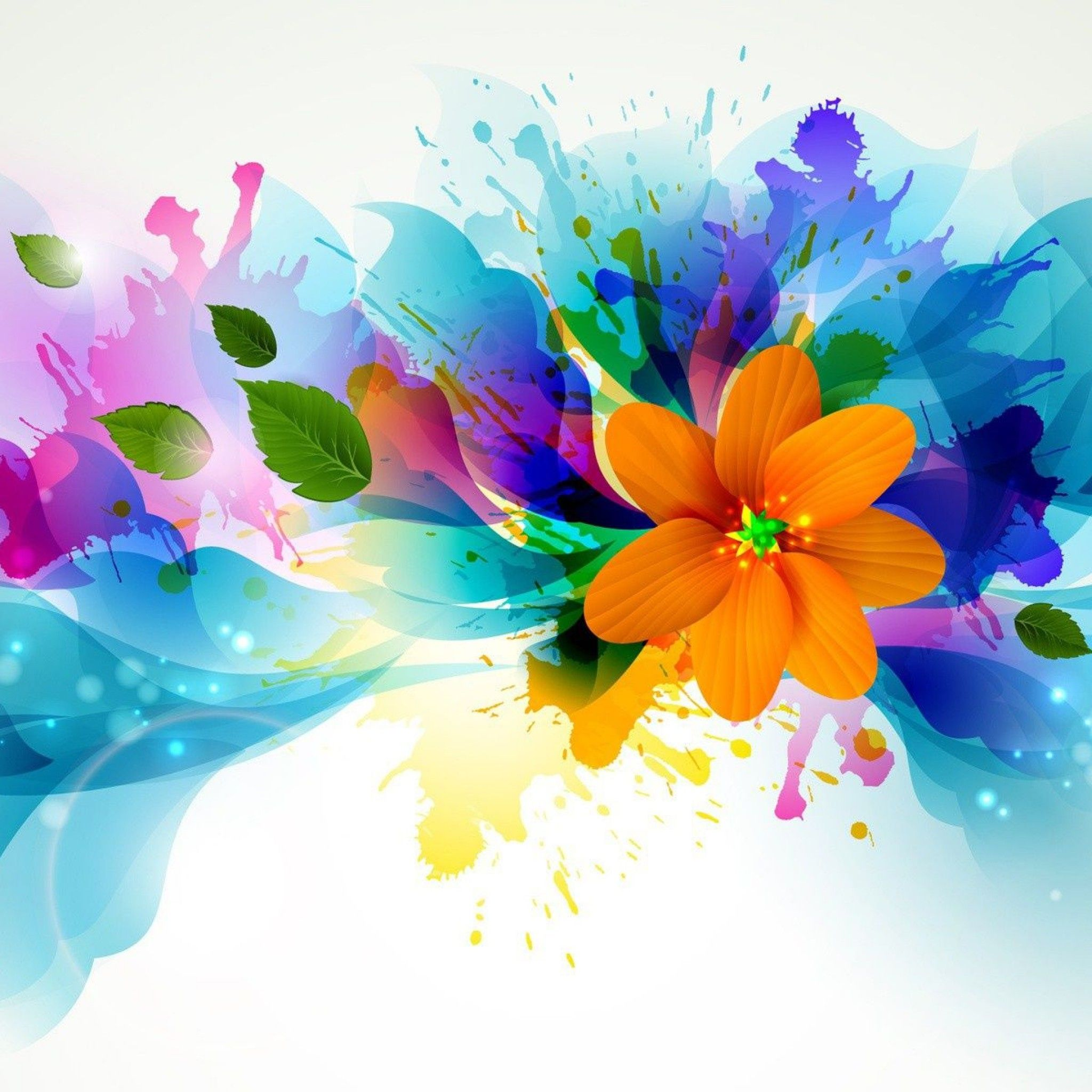 Abstract Design Flower Wallpaper In 2019 Abstract Flower
