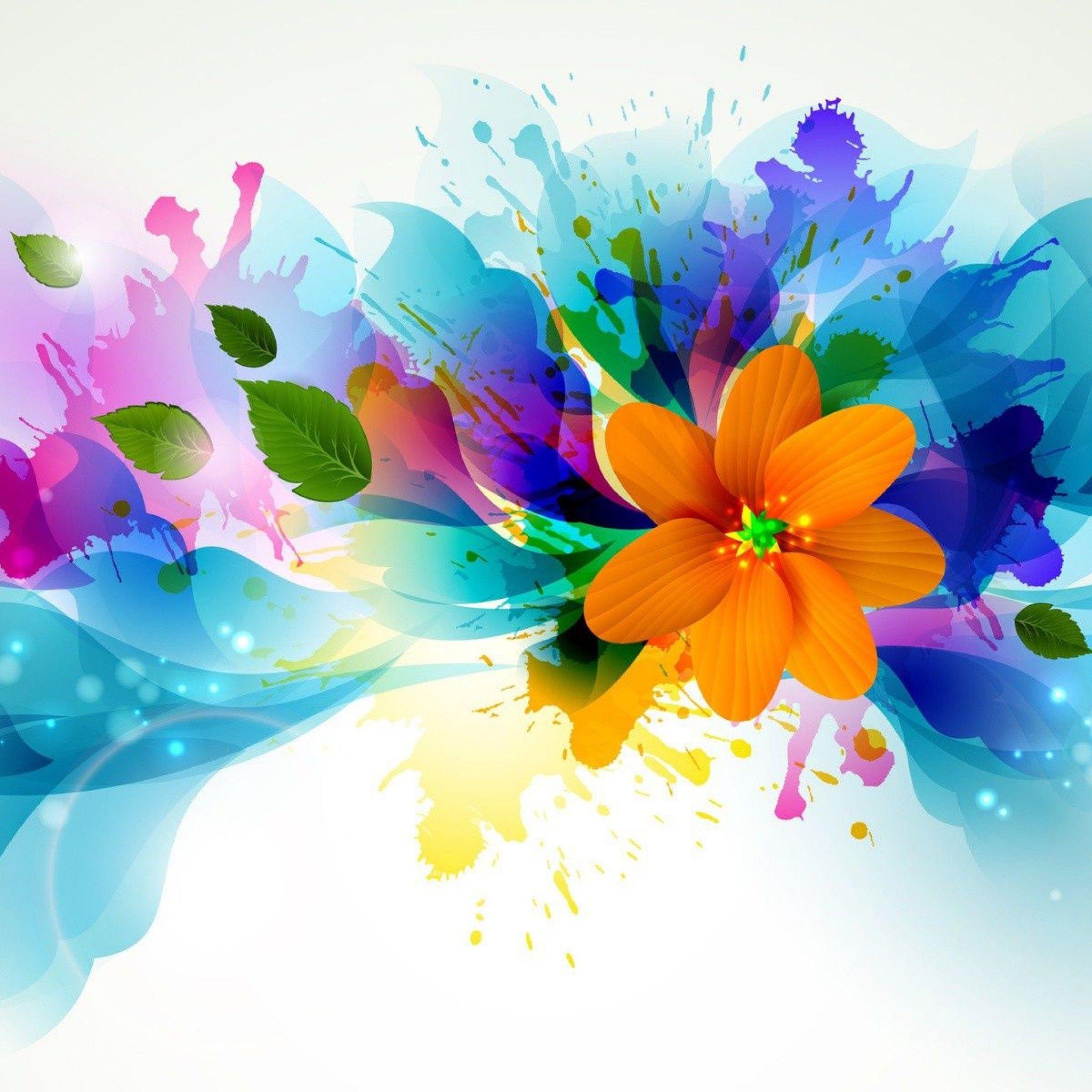 Abstract Design Flower Wallpaper Abstract flower art