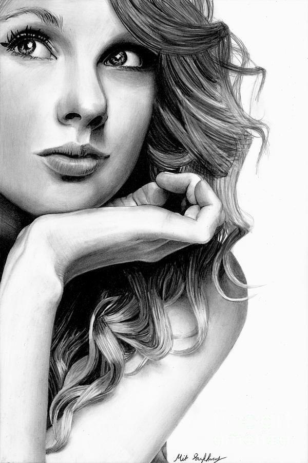 abbastanza Taylor Swift Pencil Drawing Drawing | Fine art pencil | Pinterest  JT35