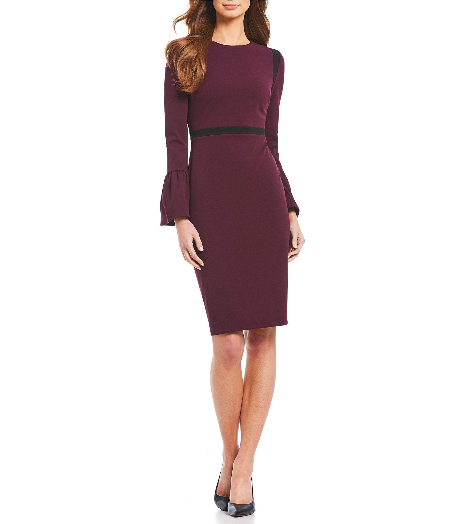 58ac53ef166 Shop for Calvin Klein Bell Sleeve Sheath Dress at Dillards.com. Visit  Dillards.com to find clothing