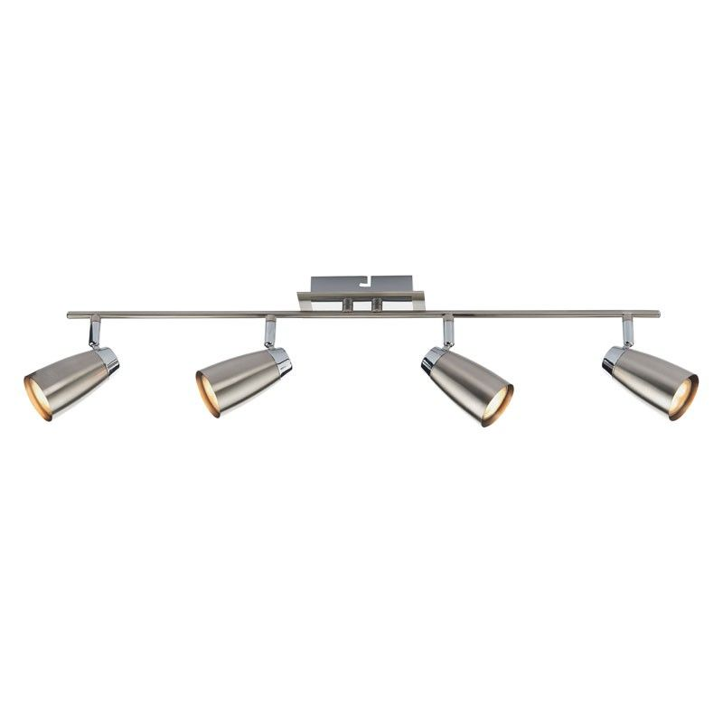 Dar Loft 4 Light Spotlight Bar Satin Chrome