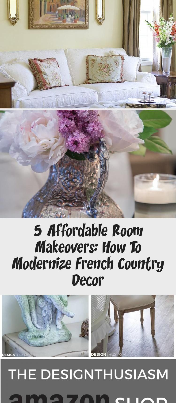 Modern french Decor | If you're looking to update your home without spending a fortune, these room makeovers will show you how to modernize French country decor. -----> #casualelegance #homedecorblog #frenchcountry #frenchcountrydecor #frenchdecoratingideas #modernfrenchcountry #modernfrenchfarmhouse #elegantdecor #romanticdecor #cottagechic #cottagedecor #farmhousestyle #vintagedesign #mixingantiqueswithmodern #ElegantFrenchCountryHomeDecor #ModernFrenchCountryHomeDecor #FrenchCountryHomeDecorS