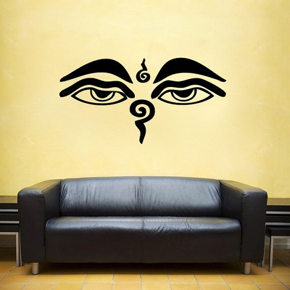wisdom eyes buddha, nepal, india vinyl wall decal- shiva interior