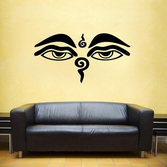 Wisdom Eyes Buddha, Nepal, India vinyl Wall DECAL- shiva interior ...