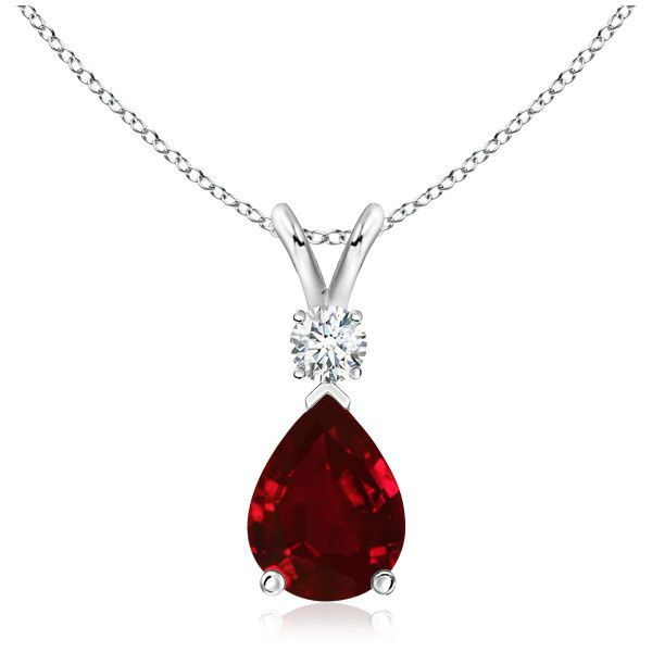 Pear ruby teardrop pendant necklace with diamond 6849 liked pear ruby teardrop pendant necklace with diamond 6849 liked on polyvore featuring jewelry aloadofball Image collections