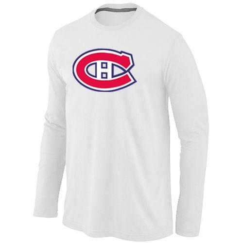 NHL Montreal Canadiens Big & Tall Logo Long Sleeve T-Shirt - White