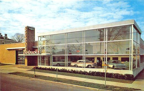 Binghamton Ny Botnick Motor Corp Chevrolet Dealership Cars Postcard Binghamton Chevrolet Dealership Dealership