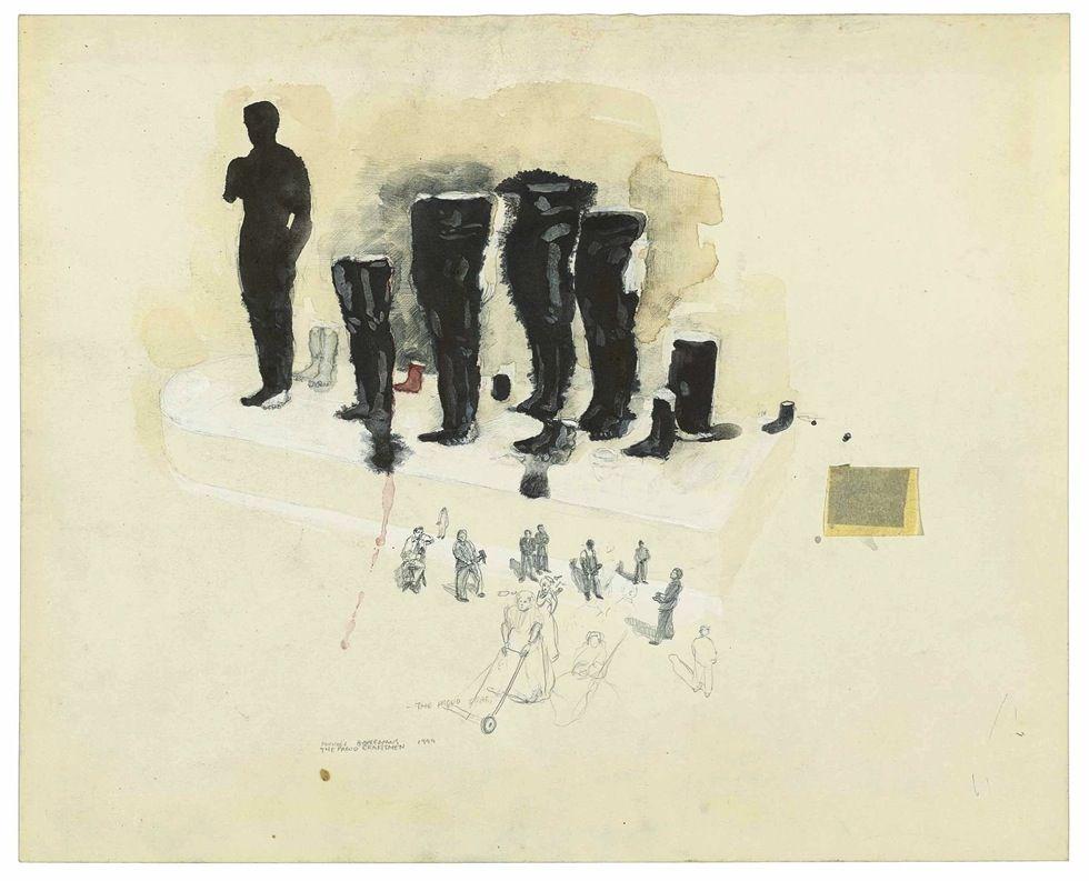 Michael Borremans Belge B 1963 Les Artisans Proud 1999