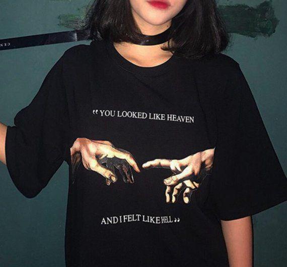 20cdd4f5 Michelangelo hands T-shirt | apparel. | T shirts for women ...