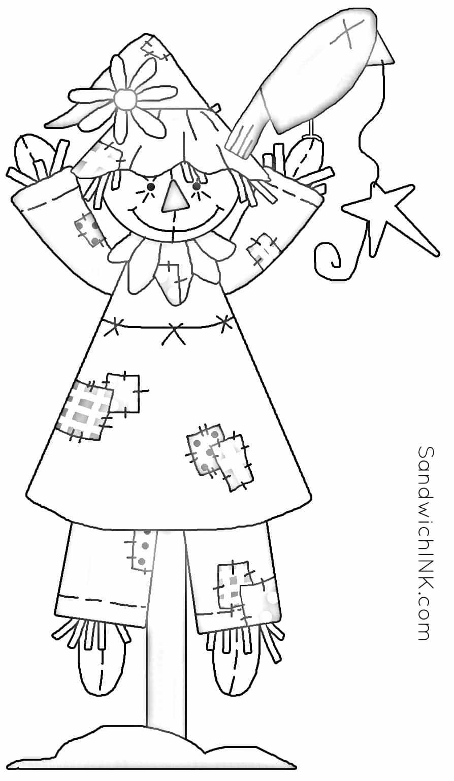Fall Scarecrow Coloring Pages And Word Search Activities Elderly Parents Can Enjoy With Grandkids Coloring Pages Fall Scarecrows Scarecrow