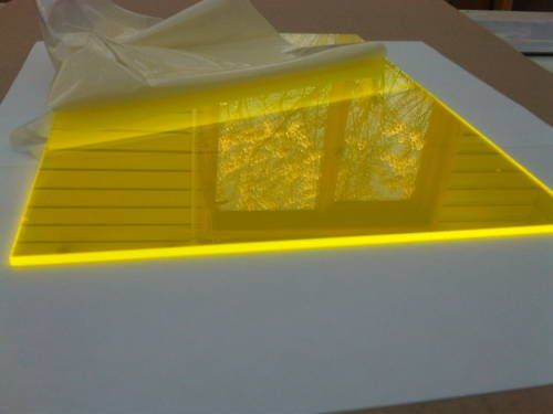 Fluorescent Helios Yellow 2t51 Cast Perspex Acrylic Sheet