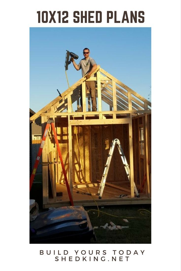 Build Your Neat Storage Shed, Playhouse, Chicken Coop, Tiny House, Man Shed,  She Shed And More With These 10x12 Shed Plans