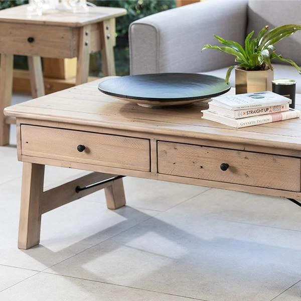 Chelwood Nordic Reclaimed Wood Coffee Table In 2020 Reclaimed Wood Coffee Table Industrial Style Furniture Large Coffee Tables