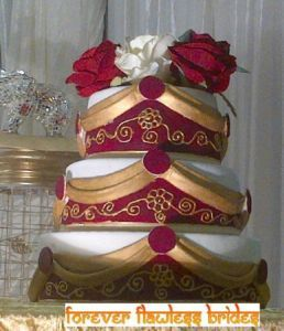 Indian Wedding Cake Design With Pagadi Groom S Traditional Hat